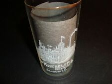 Circa 1910 Kuebeler Brewing Etched Glass, Sandusky, Ohio, 4.5 Inches Tall