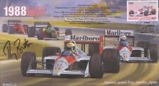 1988c McLAREN-HONDA MP4/4 BENETTON-COSWORTH F1 Cover signed THIERRY BOUTSEN