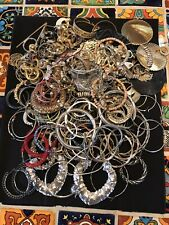 Pierced Earring Pairs Lg Hoops All Wearable Huge Lot Almost 3 Lbs Vintage To New