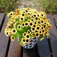 Artificial Flower 14 Fake Sunflowers Per Bouquet Home Office Wedding Decoration