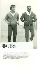 KEN WAHL BILLY DEE WILLIAMS JOGGING DOUBLE DARE ORIGINAL 1985 CBS TV PHOTO