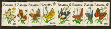 GAMBIA :1991 Butterflies set +miniature shees(4)SG1156/63+MS1164 unmounted mint