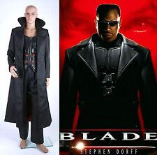 Wesley Snipes BLADE Leather Vest Coat Pants Costume Cosplay Set *Custom Made*