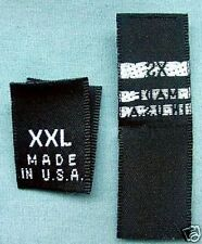 60 WOVEN LABELS, MADE IN U.S.A. XS,S,M,L,XL,XXL