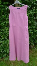 Boden lilac linen sleeveless long tunic dress size 8 new without tags       (C1)