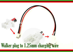 Li-PO 1S RC Battery wire cable 8cm 1.25mm 2P to 2.0 Walkera connector plug x 10