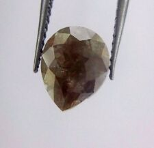 Full cut Natural Loose Diamond Reddish Gray color Pear shape 1.54TCW for Jewels