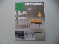 advertising Pubblicità 1979 SEDIE BIEFFEPLAST - MILANO