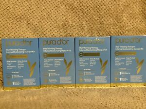 PURA D'OR PREMIUM HAIR LOSS PREVENTION THERAPY MASQUE SINGLE USE KIT, LOT OF 4
