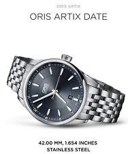 ORIS ARTIX Date 42mm, Full Steel Watch  RRP $2200 .Selling In  Australia Only
