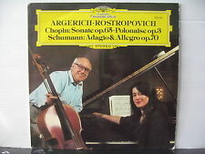 DEUTSCHE GRAMMOPHON 2531 201 ARGERICH Rostropovich Chopin/Schumann VINYL LP