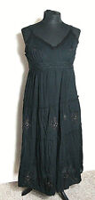 BNWT Joe Browns Black Gypsy Dress Beaded Strappy Summer Size 12 Midi Boho