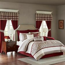 Madison Park Essentials MPE10-232 Polyester Microfiber 24 Pc Comforter Set NEW