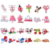 24 Pcs Multi Color Stacked Hair Bows for Girls Flower Baby Hair Animal Clips