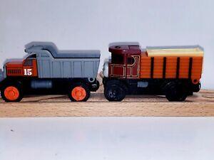 THOMAS THE TANK ENGINE WOODEN RAILWAY MAX ELIZABETH & TRUCKS BOTH 2003