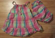 Sweet Girl's Size 3/6 M Month Two Piece Set Pink Ruffled Faded Glory Dress & Dc
