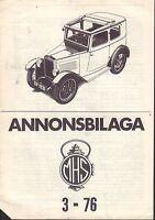 Motorhistoriskt Magasin Annons Swedish Car Magazine 3 1976 Willys 032717nonDBE