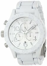 New Authentic Nixon Watch Mens 42-20 Chrono All White Silver A037-1255 A0371255
