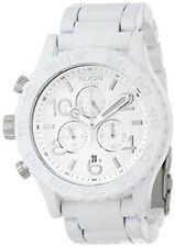 USA New Authentic Nixon Watch Mens 42-20 Chrono White Silver A037-1255 A0371255