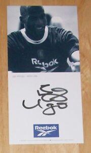 UGO EHIOGU ASTON VILLA PERSONALLY HAND SIGNED AUTOGRAPH PROMO PHOTO CARD
