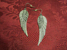 "Fashion Earrings 2"" Metal Feathers Dangle Wire"