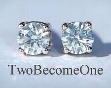 18 Carat Excellent Cut White Gold SI1 Fine Diamond Earrings