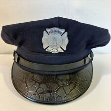 WAWAYANDA Fire NY F.D. Badge 1 CRAVENETTE Wentworth Forman CAP Hat Wool Vintage