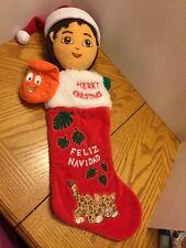 Nick Jr Holiday Christmas Stockings Diego Feliz Navidad Plush Red