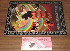 With NM extra show ticket stub! RAINBOW Japan TOUR BOOK 1976 Richie Blackmore