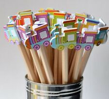 TRAIN DECORATIVE FUN PARTY BAG FILLERS PENCILS PACK OF 5