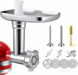 Metal Food Grinder Attachments for KitchenAid Stand Mixers, Meat Grinder,...