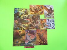 MARS ATTACKS OCCUPATION DINOSAURS ATTACK VS MARS ATTACKS COMPLETE 9 CARD SET