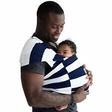 Baby K'tan ORIGINAL,BREEZE,ACTIVE Baby Carrier - Dark Blue + White stripes: S-XL