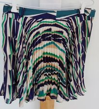 FOREVER NEW Fine Pleated artistic design Full Mini Skirt size 12