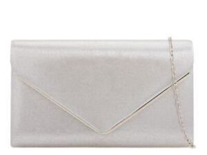 Women Glitter Clutch Bag Ladies Evening Wedding Handbag Party Prom 1616