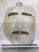 The Purge USA Network TV 2018 Clear Mask w/ Mustache Prop w/ CoA