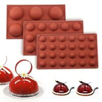 DIY Ball Sphere Silicone Mold For Cake Pastry Baking Chocolate Candy Fondant us·