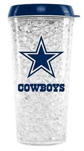 NFL Cowboys Crystal Freezer Travel Tumblers