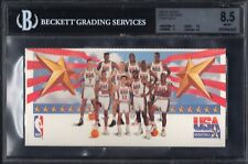 BGS 8.5 w/9.5 TEAM USA 1991-92 Skybox Mark & See Minis OLYMPIC PHOTO JORDAN RARE