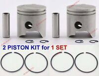 For YAMAHA Outboard 9.9, 15 HP (Piston Kit-0.50 6E7-11636-00 +Piston Ring)  X2