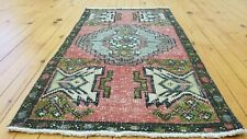 "Beautiful Vintage 1950-1960s Natural Dyed Wool Pile,Tribal Rug 1'8""×3'1& #034;"