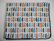 Dwell Studios CARS Trucks Bus Cotton Baby Blanket EUC Target
