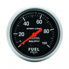 "Auto Meter 3412 2-5/8"" Sport-Comp Mechanical Fuel Pressure Gauge, 0-100 PSI"