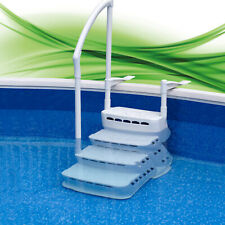 Einbautreppe Treppe f. 120-135cm Pool Schwimmbad Schwimmbecken Leiter Poolleiter