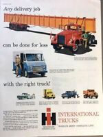 1960 International Truck IHC Vintage Advertisement Print Art Car Ad Poster LG68