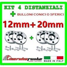 KIT 4 DISTANZIALI PER BMW X6 XDRIVE (E71 E72) 2008+ PROMEX ITALY 12 mm + 20 mm S
