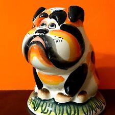 English Bulldog porcelain figurine Dog Russia hand painted Piggy Banks British