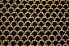 Black Gold Chenille Upholstery Fabric Damascelli Black Burch
