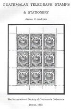 Guatemala Telegraph Stamps & Stationery Book 24 Pages New by Andrews See 4 Scans