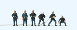 Preiser 10233 Pompiers France, Travail, H0, Neuf 2020